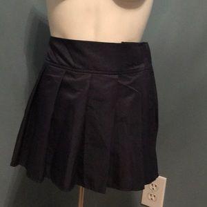 American Apparel Navy Pleated Velcro Tennis Skirt